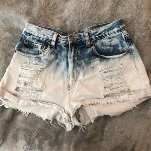 Pants - Cut off high waisted denim shorts